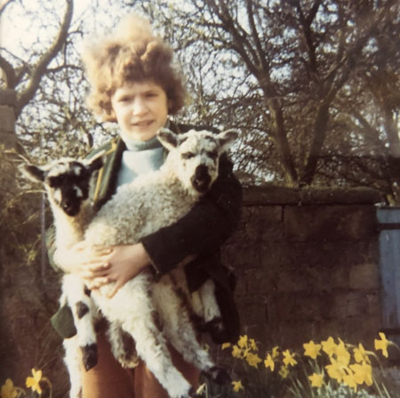 Lorraine with lambs